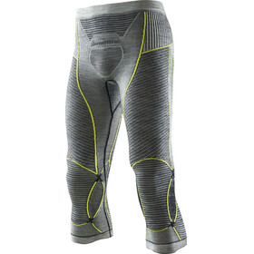X-Bionic Apani Merino By X-Bionic Fastflow Medium Uw Pants Men Black/Grey/Yellow